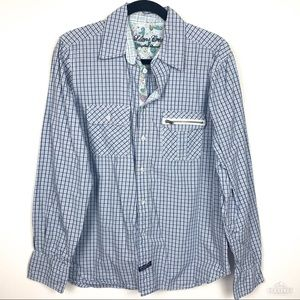 Lion's Crest by English Laundry Plaid Button Up